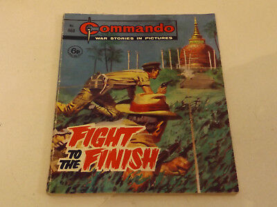 Commando War Comic Number 668 !,1972 Issue,good For Age,46 Years Old,v Rare.