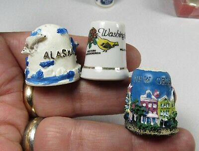 LOT OF 10 VINTAGE PORCELAIN THIMBLES - All Different - see pictures