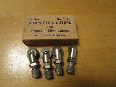 Mine/Miners 4 Shanklin Strikers W/original Box For  CARBIDE LAMPS