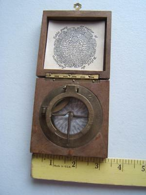 Vintage Reproduction Spanish Compass In Box