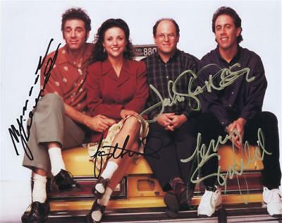 Seinfeld Tv Show Cast - Outstanding Pose - Autographed Photo With Coa