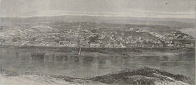 1869 Panoramic View of Whanganui, North Island, New Zealand - Titokowaru's War