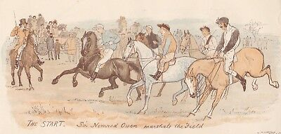 "1880 Large Engraving - ""The Wychdale Steeplechase"" - Sketches by R. Caldecott"