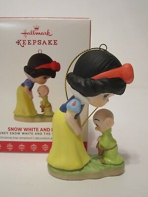 2017 Hallmark Precious Moments Disney Snow White and Dopey Porcelain Ornament