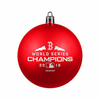 Boston Red Sox 2018 World Series Champions Red Shatterproof Christmas Ornament