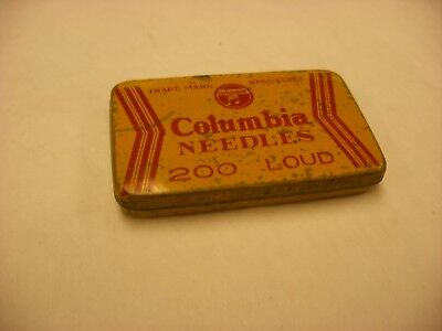 Phonograph Victrola Gramophone - Needle Tin - Columbia Yellow 200 Loud