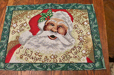 "Christmas Tapestry Place Mats ""I Believe in Santa Claus"", Set of 2"