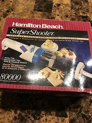 Hamilton Beach Super Shooter 80000 7 Discs Cordless Cookie Press Food Decorator
