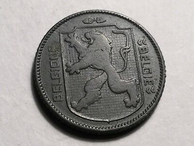BELGIUM 1941 French legend 1 Franc zink coin very nice condition