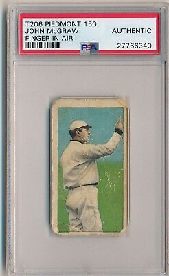 JOHN MCGRAW 1909-11 T206 Piedmont 150 Tobacco Finger in Air PSA A GIANTS HOF