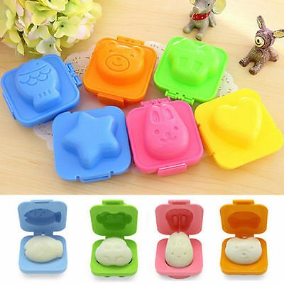 6Pcs Boiled Egg Sushi Rice Mold Bento Maker Sandwich Cutter Decorating Home