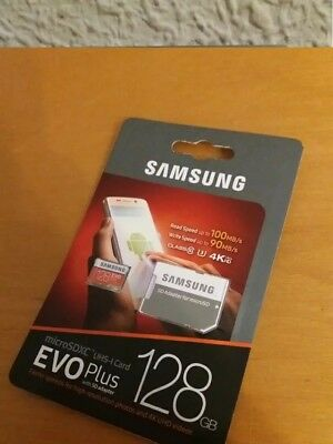 New EVO PLUS Samsung 128GB Micro SD Class 10 TF Memory Card SDHC 100MB/s