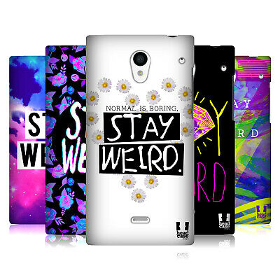 Head Case Designs Stay Weird Back Case For Sharp Phones