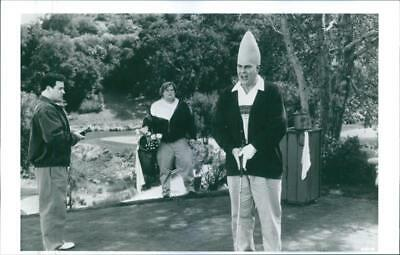 "A scene from the film ""Coneheads"" with Jason Alexander, Chris Farley , and Dan A"