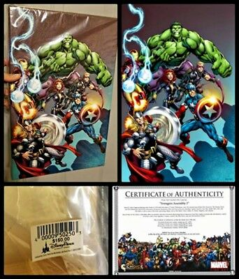The Avengers Assemble 3 Marvel Comic LE 500 Canvas Giclee Gallery - 16x10 NEW!