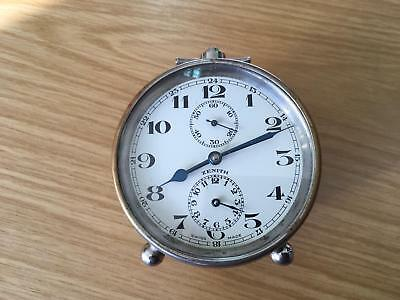 Antique Zenith Alarm Brass Clock from 1930 in working condition