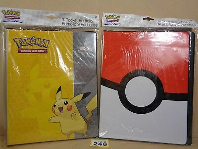 Pokemon Trading Card Game TCG Pikachu Pokeball 9 Pocket Binders Clearance 248