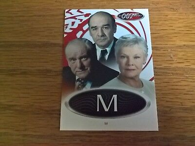 James Bond 007 40th Anniversary trading card game: competition insert 'M'