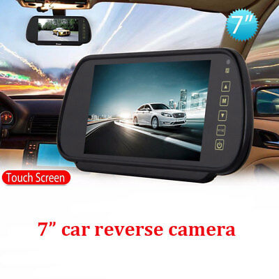 "7"" Screen Car Rear View Mirror TFT - LCD Monitor For  Reversing Camera Universal"
