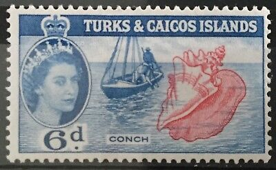 Turks and Caicos Islands 1957  6d. Conch  SG244 Mtd.Mint