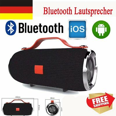 Tragbar Bluetooth4.2 Stereo Lautsprecher Soundstation Musikbox SD USB Subwoofer