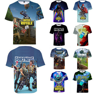 3D T-Shirt Fortnite Royale XBOX Gaming Print Tee Shirt Playstation Plus Size