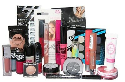 25 x Branded Makeup Assorted Full Size Cosmetics | Inc Maybelline NYC Collection