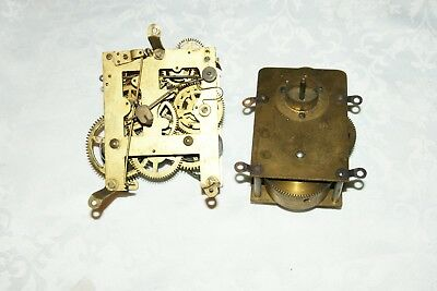 2 x Antique Clock Movements (Junghans) Spares/Repair