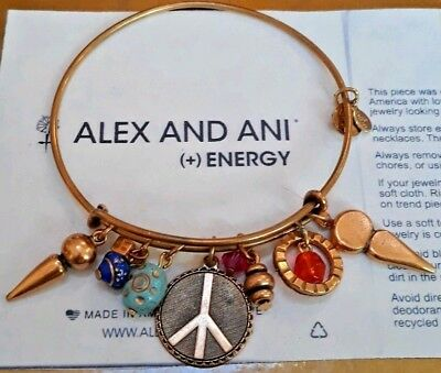 Alex and Ani Expandable Bracelet Russian Gold Extremely Rare Collectors ❤️