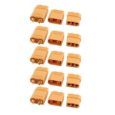 5 Pairs XT90 Male Female Plated Gold Connector for RC Lipo Battery Motor Yellow