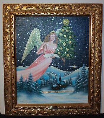 Christopher Radko 1996 Christmas Angel Oil Painting Limited Edition #11 Of 500
