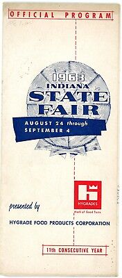 1963 INDIANA STATE Fair Map & Program-Beverly Hillbillies ...