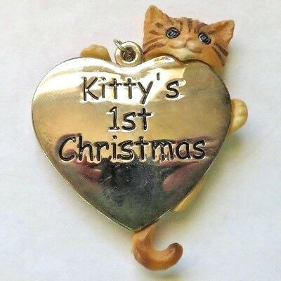 Gorham Silver Kitty's First Christmas 1st Ornament  New In Box 2006