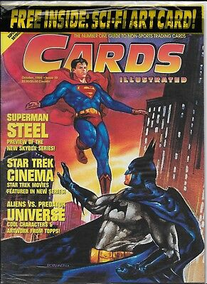 Cards Illustrated - Oct 1994 - Superman/Batman Cover - Sealed bag, never opened!