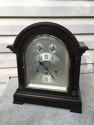 Antique Junghans Westminster 8 Day Mantle Clock Good Running Many Repairs