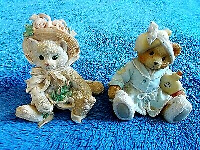 "1992 ENESCO CALICO KITTENS ""FRIENDSHIP BLOSSOMED from the Heart"" 027887"