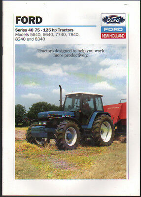 """Ford """"Series 40"""" 75-125hp Tractor Brochure Leaflet"""