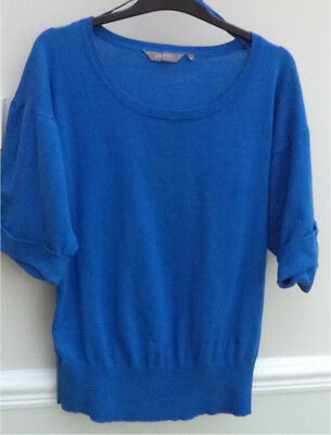 'New Look',new,blue,short Sleeve,cotton  Sweater-Size 12