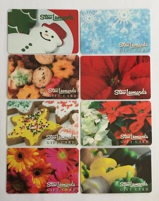 Stew Leonard's Collectible Gift Card. Set of 8. Mint. Worldwide shipping