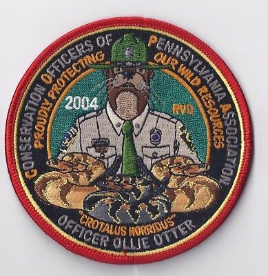 Conservation Officers of Pennsylvania COPA 2004 Ollie Otter Patch