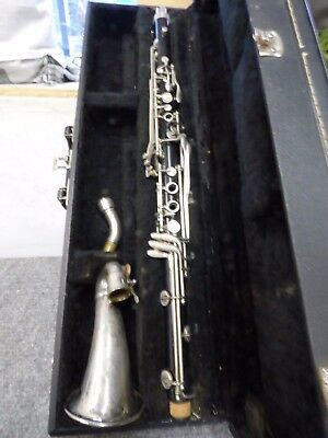 Vintage King Plastic Alto Clarinet wcase*NO RESERVE*NOT WORKING*