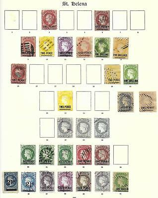 St Helena stamps 1864 Collection of 29 CLASSIC stamps HIGH VALUE!