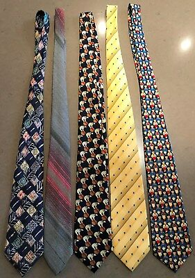 MENS CLASSIC VINTAGE BUSINESS TIES - 5 x set - Purchased new - 1-owner - AS NEW!