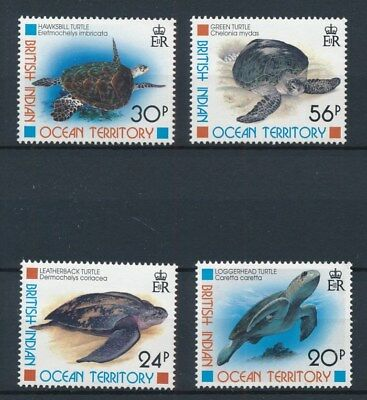 [77577] British Indian Ocean Territory Turtles good set Very Fine MNH stamps