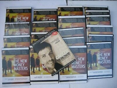 (QTY 19)  The New Money Masters Anthony Tony Robbins  CD & DVD Assorted Set