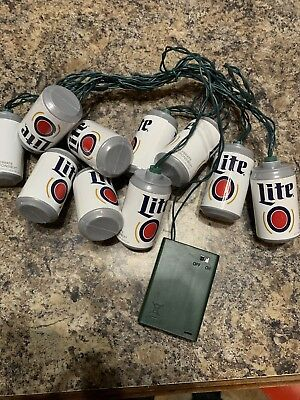 Miller Lite Battery Operated Beer Can Christmas Lights