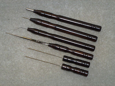 Lacemaking Lace Tools In Cocobolo Rose