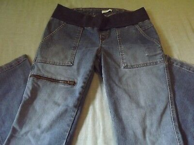 MATERNITY OLD NAVY STRETCH FLARED FIT DENIM JEANS sz SMALL