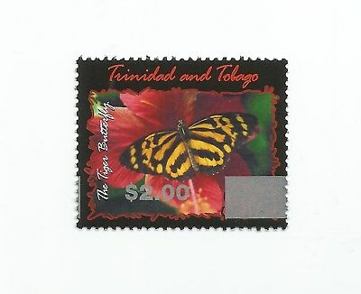 Trinidad and Tobago 2017 Overprint: $2 on 2002 Tiger Butterfly $3.75