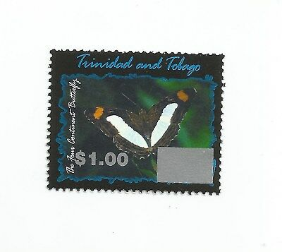 Trinidad and Tobago 2017 Overprint: $1 on 2002 $4.50 Butterfly